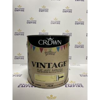 Crown Vintage Flat Matt Emulsion Paint For Interior Walls Ceilings Pedal Pushing Lemon