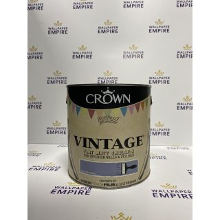 Crown Vintage Flat Matt Emulsion Paint For Interior Walls Ceilings Pencil Skirt Grey