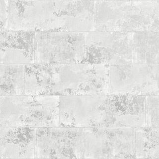 Rasch Portfolio Concrete Realistic Brick Grey Metallic Wallpaper - 248678
