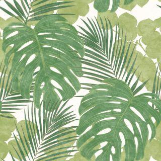 Rasch Portfolio Jungle Leaves Green Wallpaper - 214628