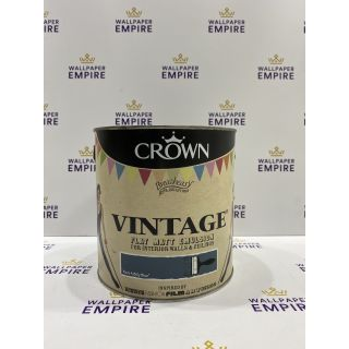 Crown Vintage Flat Matt Emulsion Paint For Interior Walls Ceilings Rock A Billy Blue