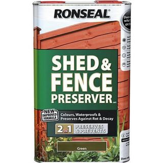 Ronseal Shed and Fence Preserver - Green 5L
