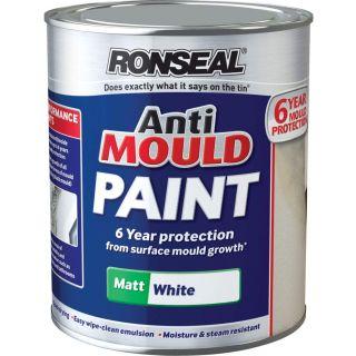 Ronseal Anti Mould Paint White Matt 2.5 Litre