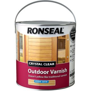 Ronseal Crystal Outdoor Satin Finish Varnish - clear 2.5 L