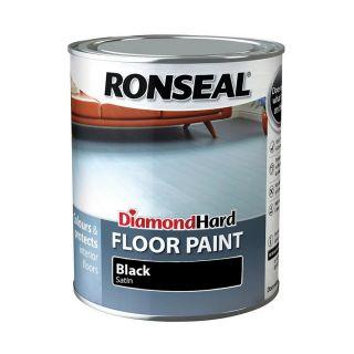 Ronseal Diamond Hard Floor Paint Black 750ml