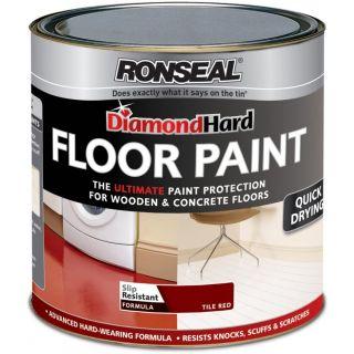 Ronseal Diamond Hard Floor Paint Red 750ml