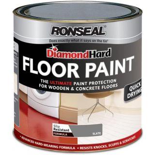 Ronseal Diamond Hard Floor Paint Slate 750ml