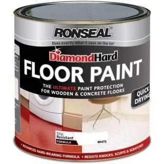 Ronseal Diamond Hard Floor Paint White 750ml