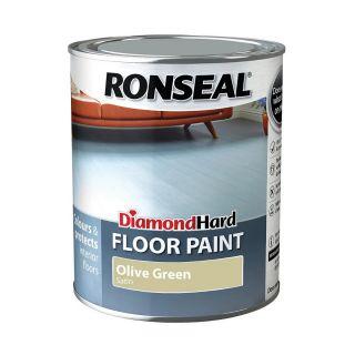 Ronseal Diamond Hard Floor Paint Olive Green 750ml