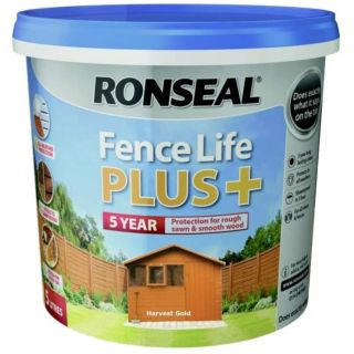 Ronseal Fence Life Plus Paint - Harvest Gold 5L