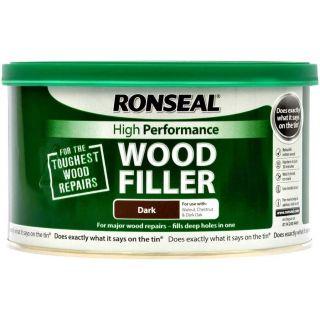 Ronseal High Performance Wood Filler - Dark 275g