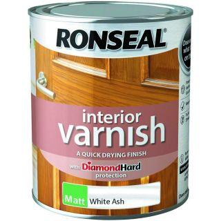 Ronseal Interior Varnish White Ash Matt 750ml