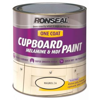 Ronseal One Coat Cupboard Melamine & MDF Magnolia 750ml