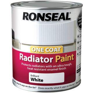 Ronseal One Coat Radiator Paint Satin White 750ml