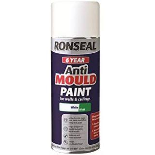 Ronseal 6 Year Anti Mould Aerosol White Matt 400ml