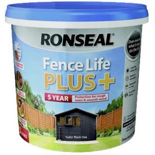 Ronseal Fence Life Plus Tudor Paint - Black Oak 5L