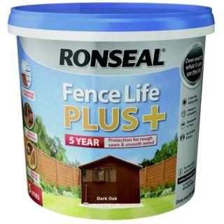 Ronseal Fence Life Plus Paint - Dark Oak 5L