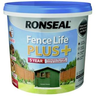 Ronseal Fence Life Plus Paint - Forest Green 5L