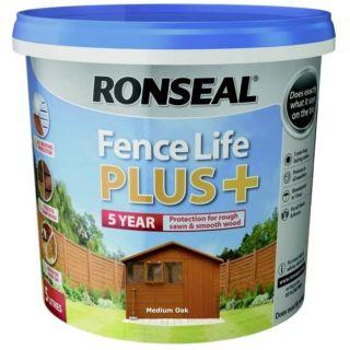 RONSEAL Fence Life Plus Paint - Medium Oak 5L
