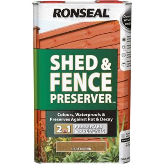Ronseal Shed and Fence Preserver - Black 5L