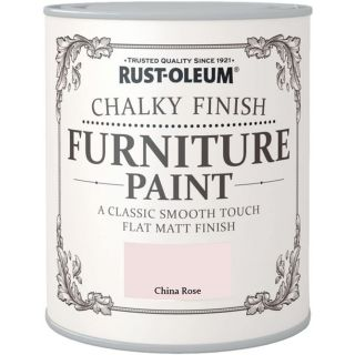 Rust-Oleum Chalk Chalky Furniture Paint China Rose 750ML