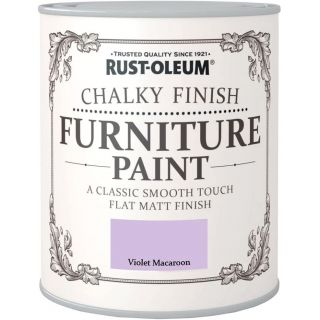 Rust-Oleum Chalky Finish Furniture Paint Violet Macaroon Matt 750ml