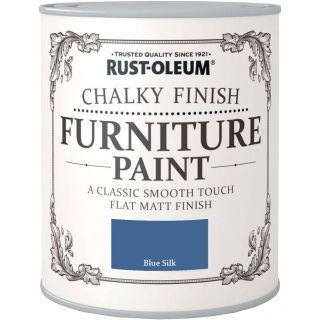 Rust-Oleum Chalky Furniture Paint Blue Silk - 750ml