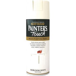 Rust-Oleum Painter`s Touch Multi Purpose Satin Spray Paint 400ML-Heirloom White