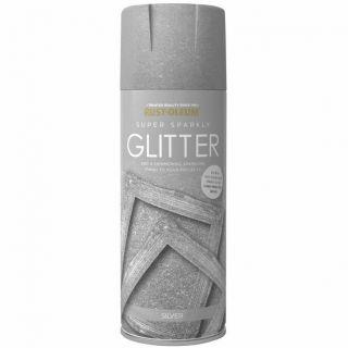 Rust-Oleum Super Sparkly Silver Glitter Spray Paint 400ml