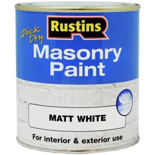 Rustins Masonry Paint White 250ML