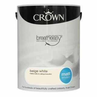 CROWN MATT EMULSION - BEIGE WHITE 5L