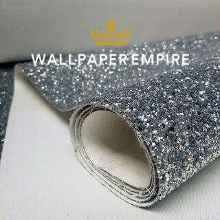 Silver Glitter 54CM Wall covering
