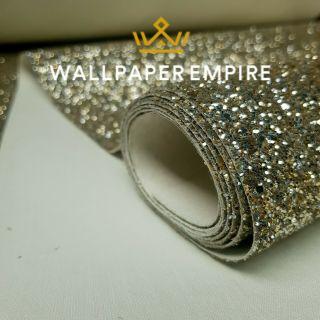 Champagne Gold Glitter 25CM Border (Self Adhesive)