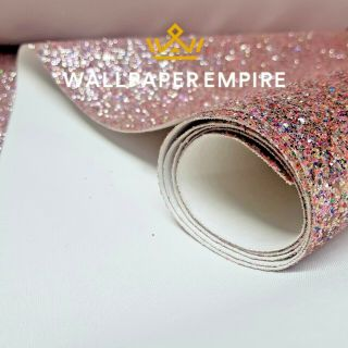 Rainbow Rose Pink Glitter 54CM Wall covering