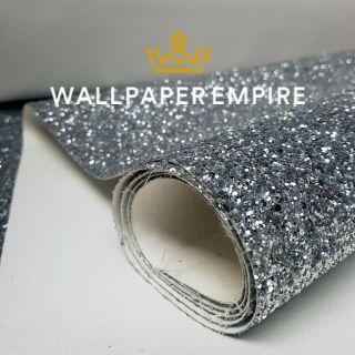 Silver Multi Glitter 25CM Border (Self Adhesive)