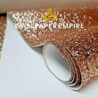Rose Gold Glitter 25CM Border (Self Adhesive)