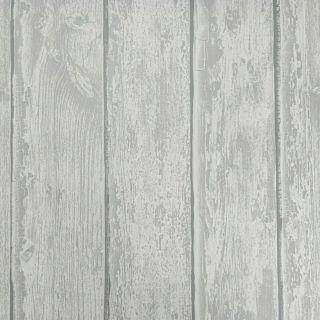 Rasch Wooden Panel Wood Effect Plank Paste The Wall Grey Textured Vinyl Wallpaper