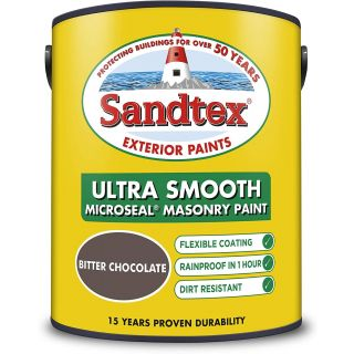 Sandtex Ultra Smooth Masonry Bitter Chocolate Paint 5L