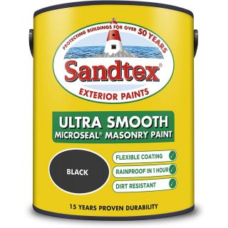 Sandtex Ultra Smooth Masonry Black Paint 5L