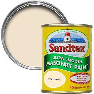 Sandtex Ultra Smooth Masonry Ivory Stone Paint 5L