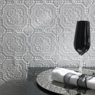 Superfresco Paintable Vintage Small Squares Geometric White Wallpaper 12011