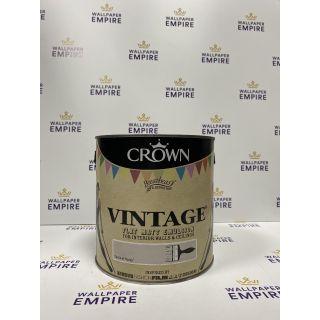 Crown Vintage Flat Matt Emulsion Paint For Interior Walls Ceilings Taste of Honey