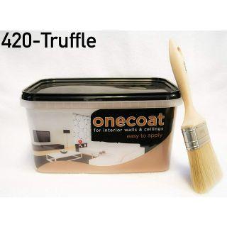 One Coat Matt Emulsion - Truffle 5L