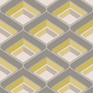Retro Funky Geometric Glitter Wallpaper Yellow A16001 Vintage Design