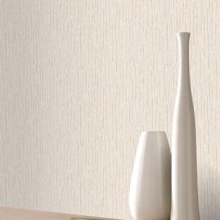 Rasch Portfolio Plain Textured Lines Natural/Beige Metallic Wallpaper- 215809