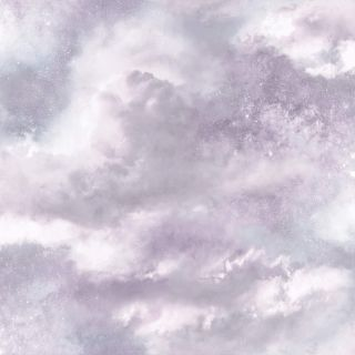 Glittery Cloudy Sky Pink Lilac Grey 903708