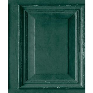 Grandeco Life Wood Panels Green Wallpaper A49204 - Distressed Wooden Panelling