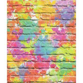 Muriva Camouflage Multi Funky Brick Wallpaper L33505