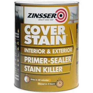 Zinsser ZINCSP25L 2.5 Litre Cover Stain Primer/Finish Paint